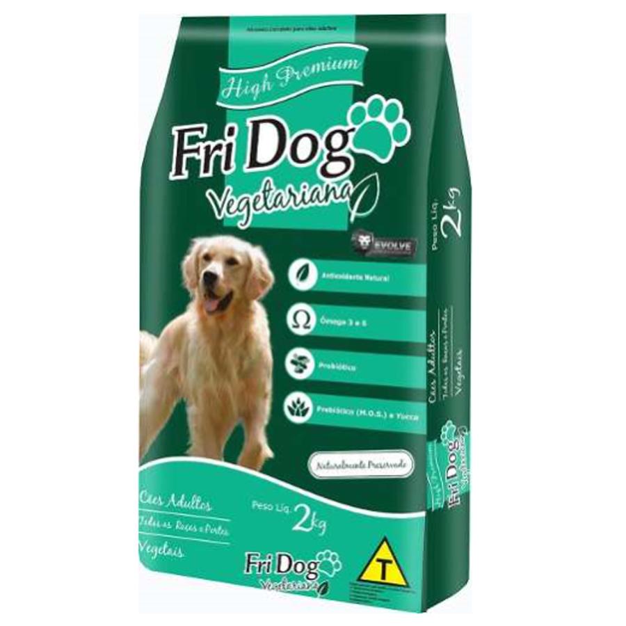 Ração para cães premium vegetariana Fri Dog Vegetais 2kg