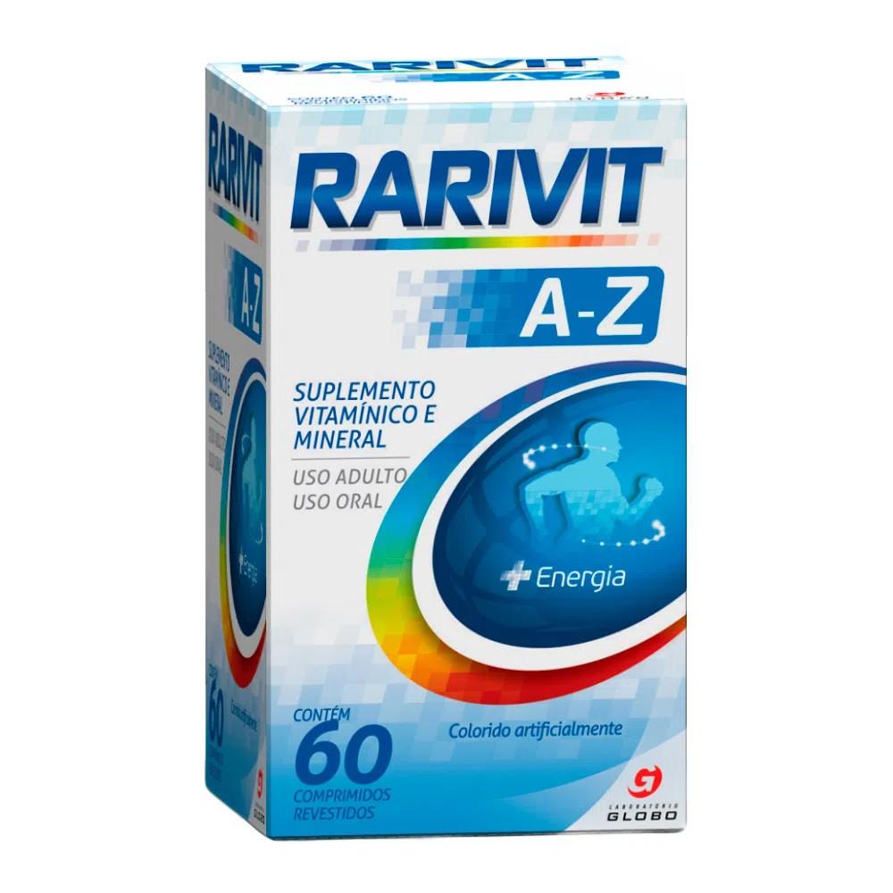 Rarivit A-Z com 60 Comprimidos Revestidos