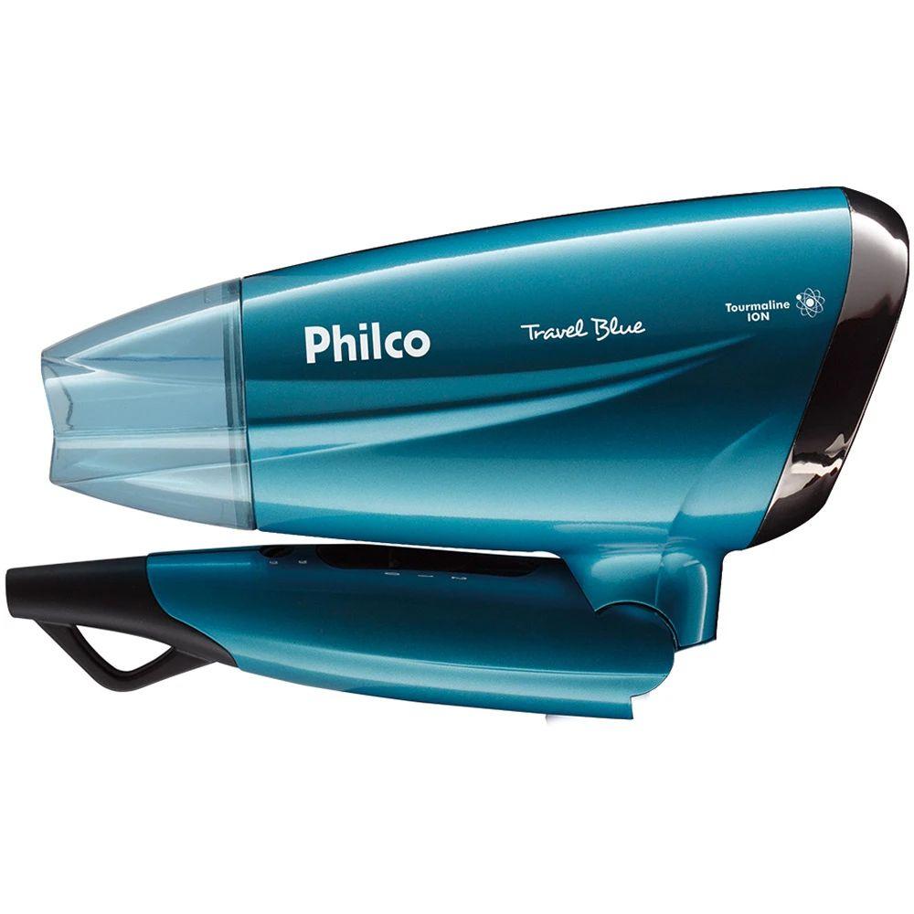 Secador De Cabelo Philco Travel Blue Psc02 1200w Azul Bivolt