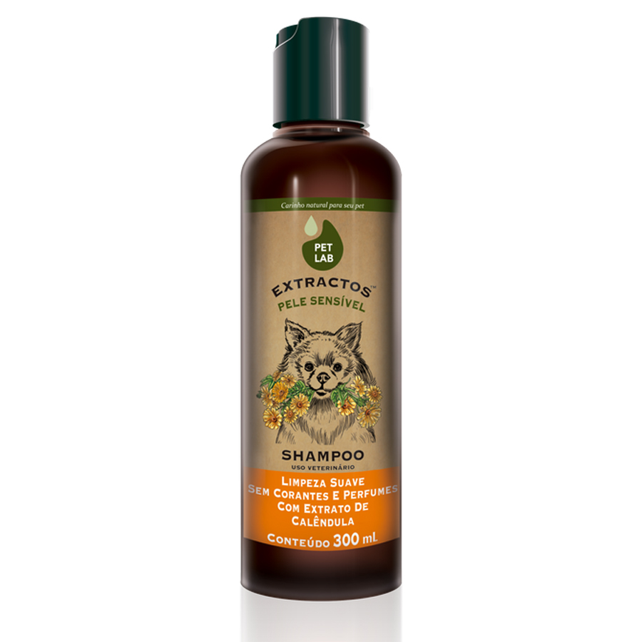 Shampoo para cães com pele sensível 300ml Calêndula PetLab