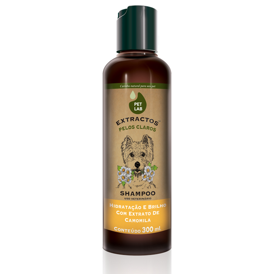 Shampoo para cães pelos claros 300mL Camomila PetLab
