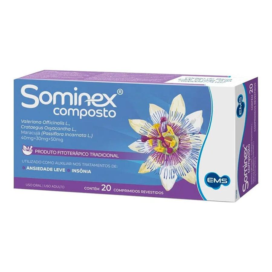 Sominex Composto com 20 comprimidos revestidos