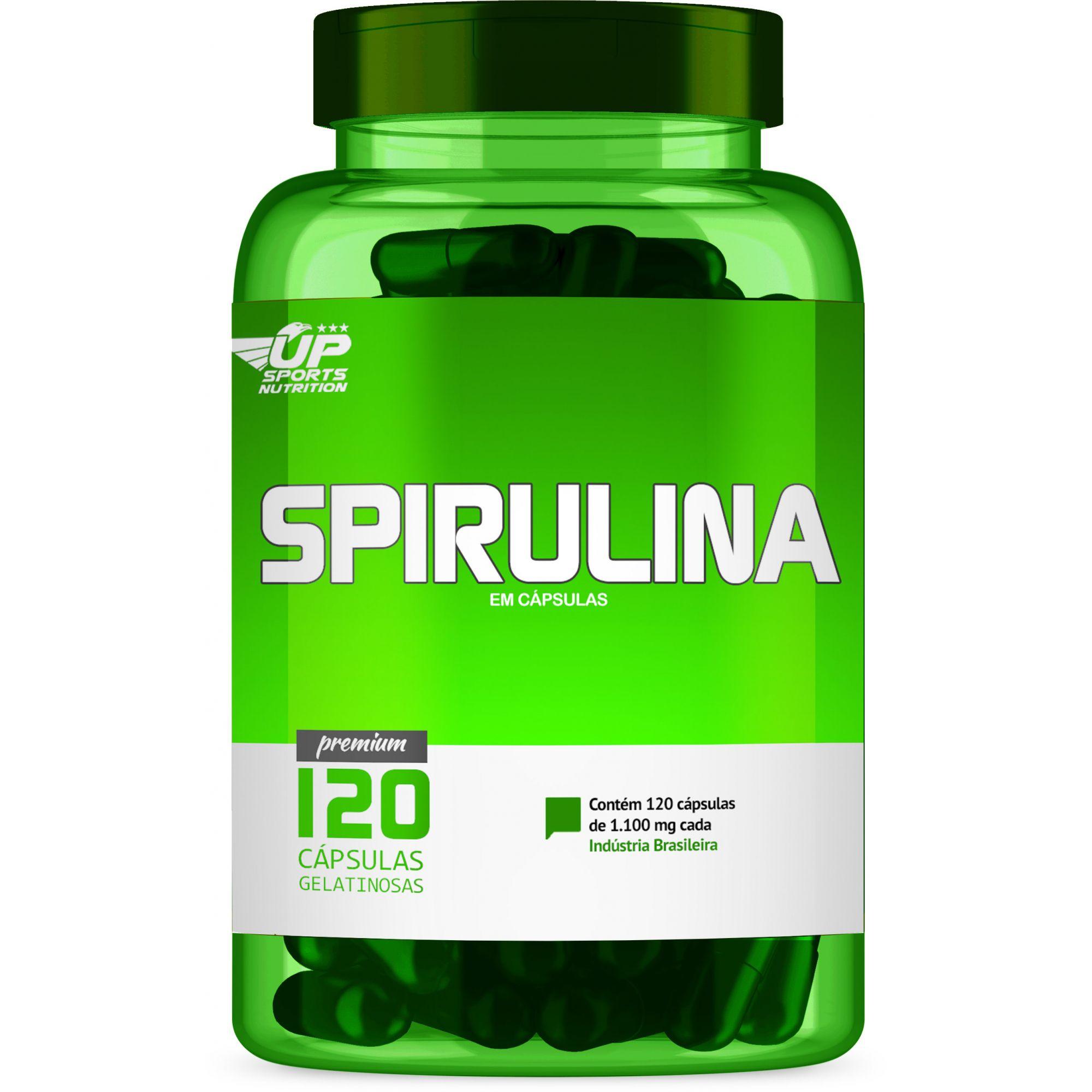 Spirulina 1100mg com 120 cápsulas Up Sports Nutrition