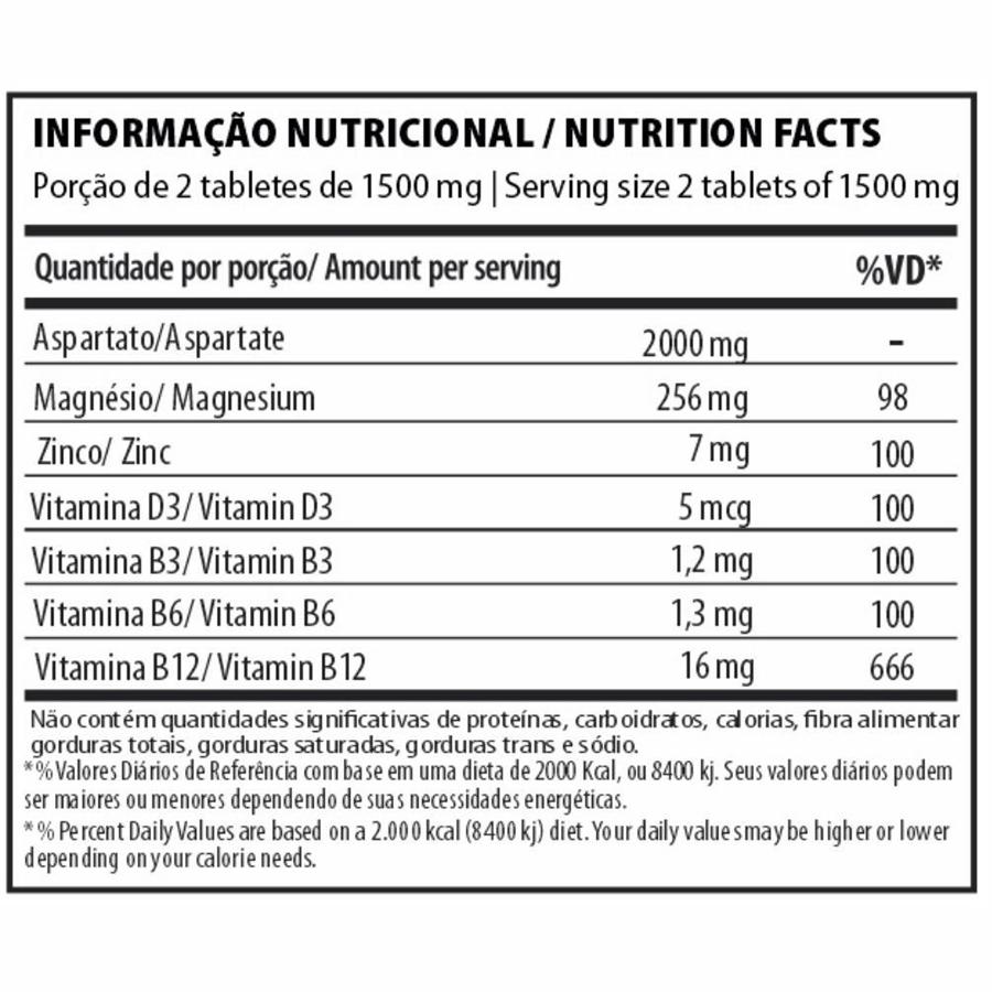Testo Cycle Aspartato 2000mg com 120 tabletes Under Labz