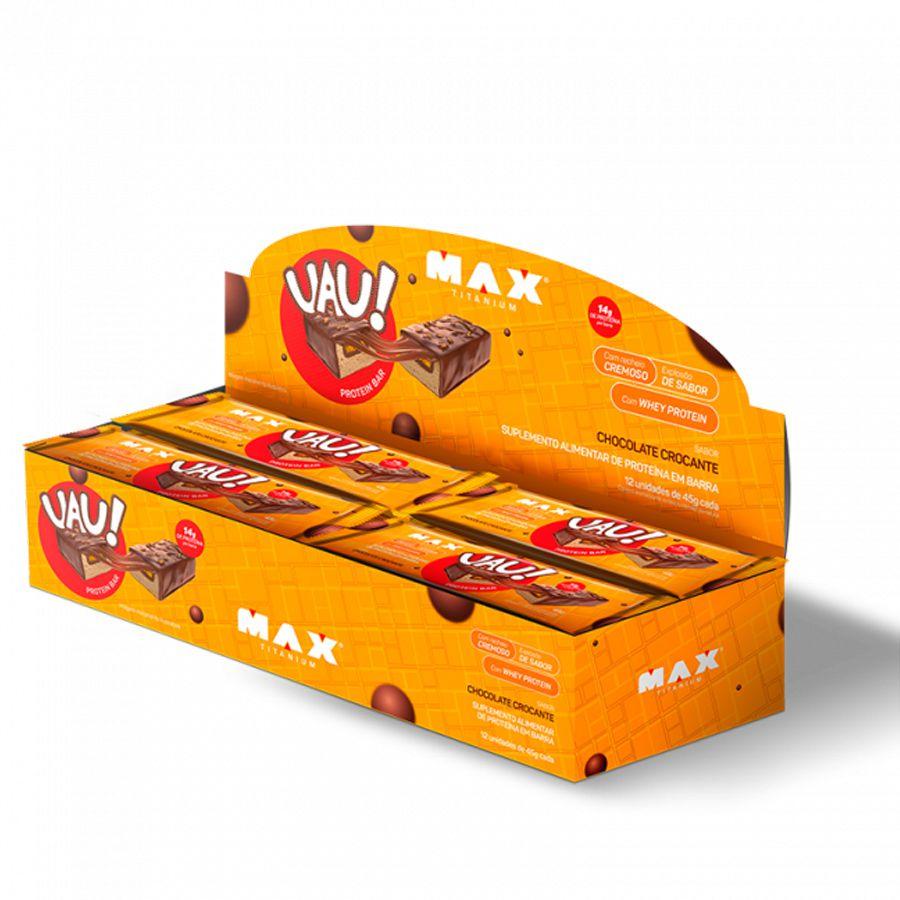 Uau Protein Bar Max Titanium 12un 45g Chocolate Crocante
