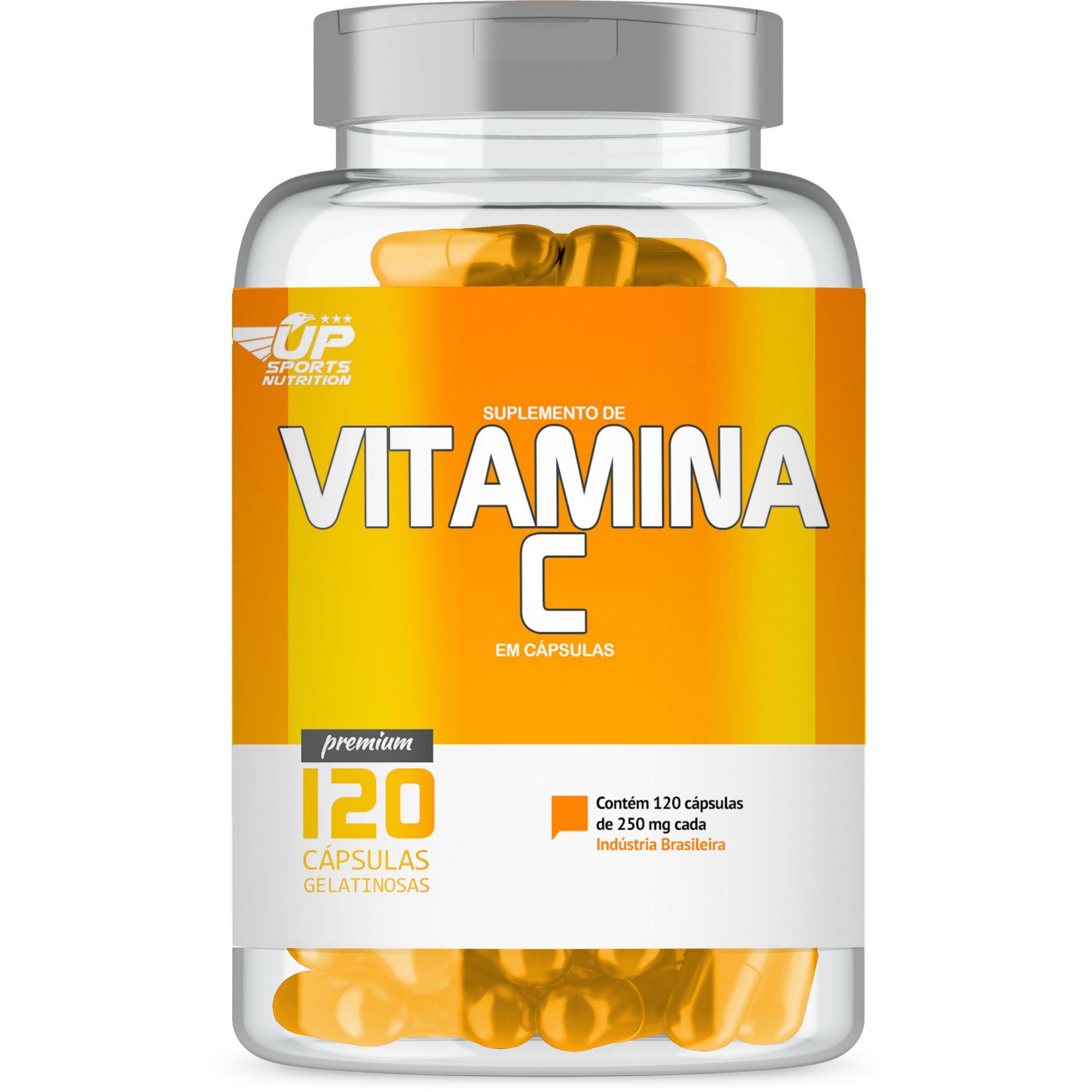 Vitamina C 250mg com 120 cápsulas Up Sports Nutrition