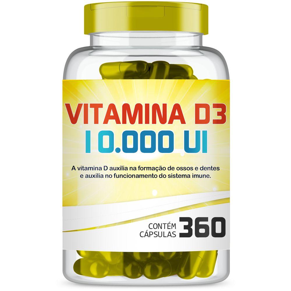 Vitamina D3 10.000Ui com 360 cápsulas