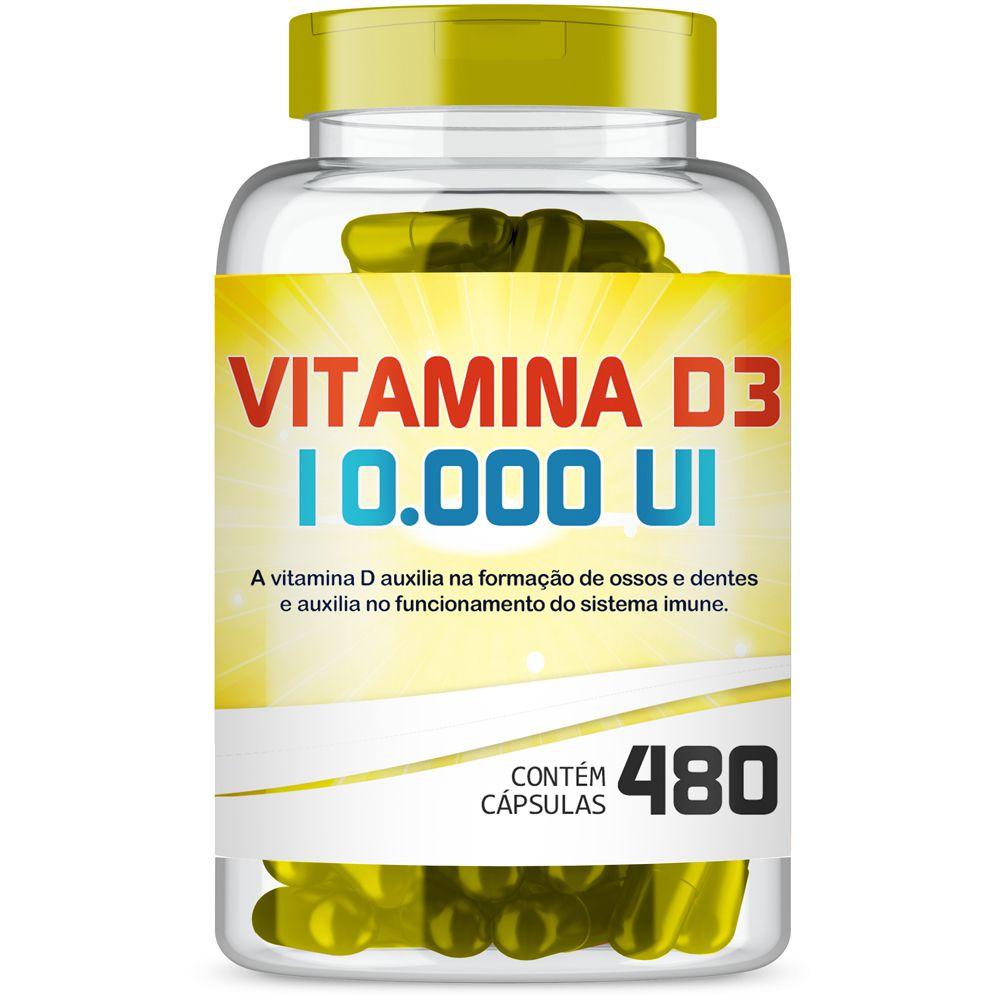 Vitamina D3 10.000Ui com 480 cápsulas