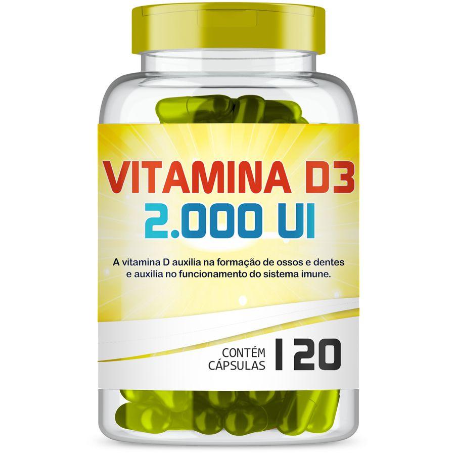 Vitamina D3 2.000 UI com 120 Capsulas