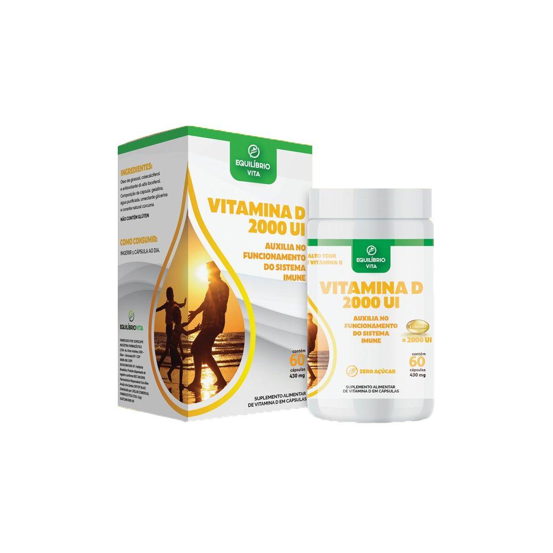 Vitamina D3 2.000ui Com 60 Cápsulas Equilibrio Vita