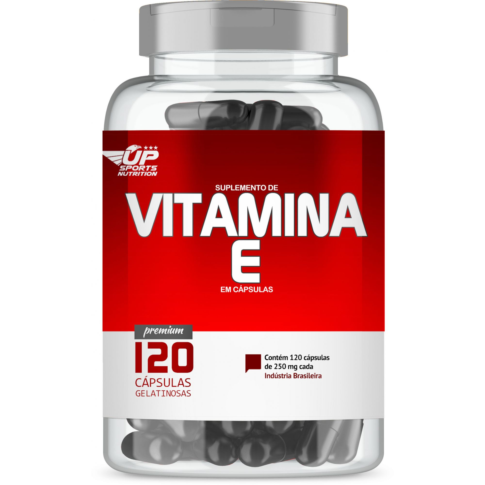 Vitamina E 250mg com 120 cápsulas Up Sports Nutrition