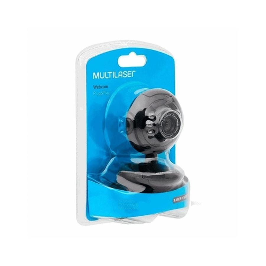 Webcam Multilaser WC045 Microfone Usb Preto Plug Play 16Mp