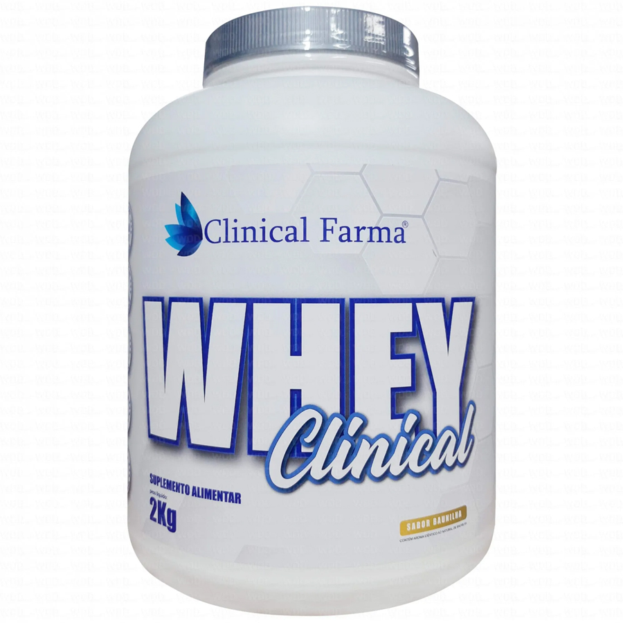 Whey Concentrado Clinical 2kg Clinical Farma Morango