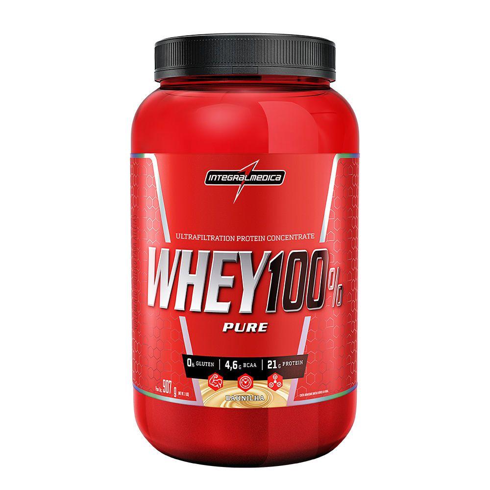 Whey Protein 100% Pure Integralmedica 907g - Baunilha