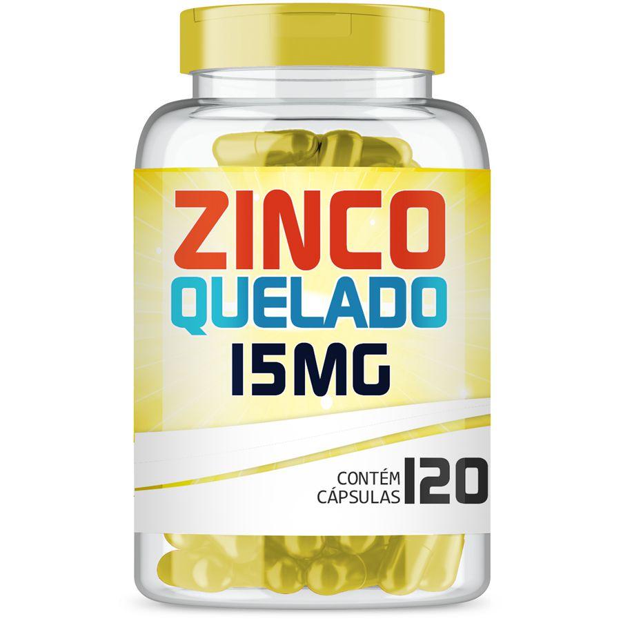 Zinco Quelado 15mg com 120 cápsulas