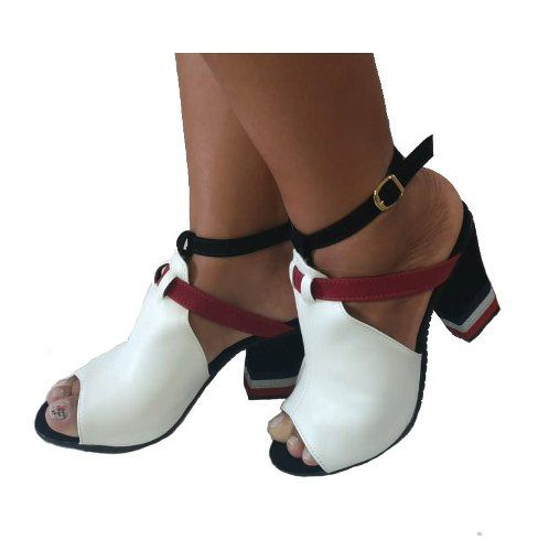 22e15b19a8 Sandalia Tamanco Feminino Tipo Bota 2 Modelos Em 1 - Gladishoes ...
