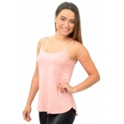 BLUSA REGATA VANESSA ROSA TOP MODEL