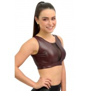 CROPPED CIRRE FEMME MARROM TOP MODEL