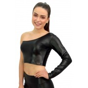 CROPPED CIRRE MARILYN PRETO TOP MODEL