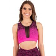 CROPPED ESTAMPADO DEGRADÊ ROSA NEON FEMME TOP MODEL