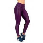 LEGGING CIRRE COM TELA ROXO TOP MODEL