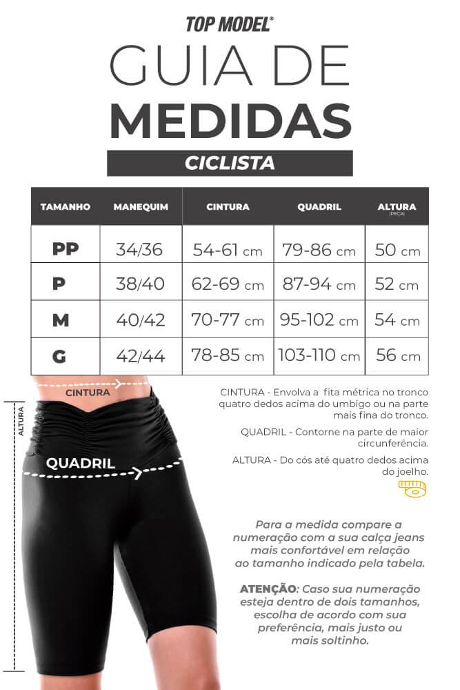 BERMUDA CICLISTA SUPLEX MESCLA CÓS ALTO TOP MODEL