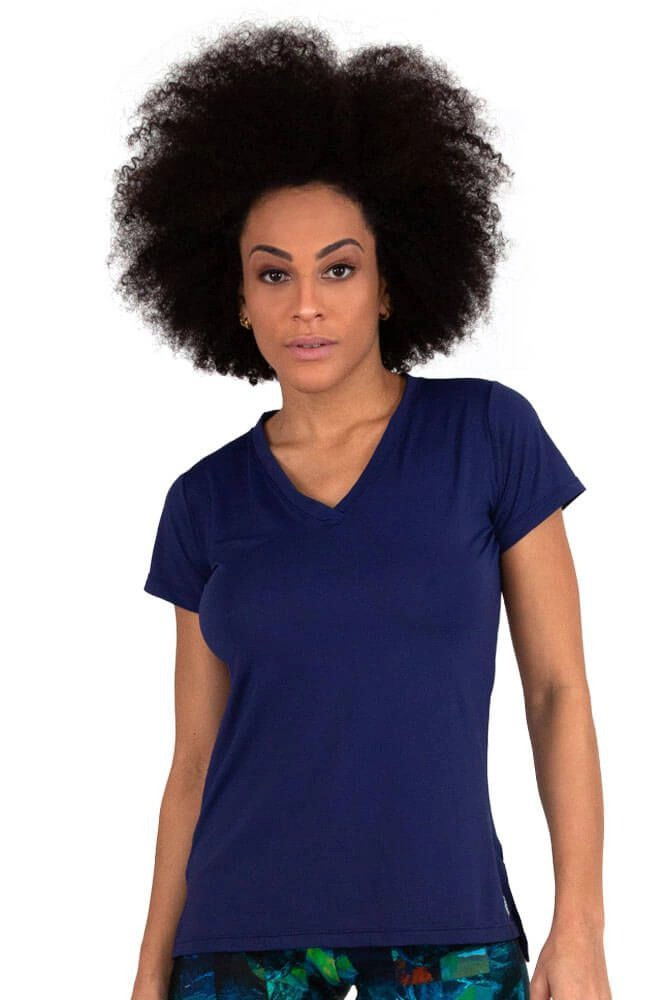 BLUSA FASHION NEW TRIP AZUL MARINHO TOP MODEL
