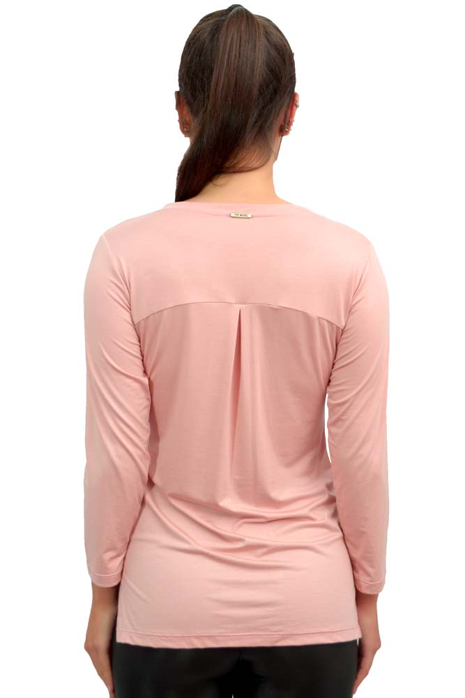 BLUSA MANGA 3/4 LU STRETCH ROSA TOP MODEL