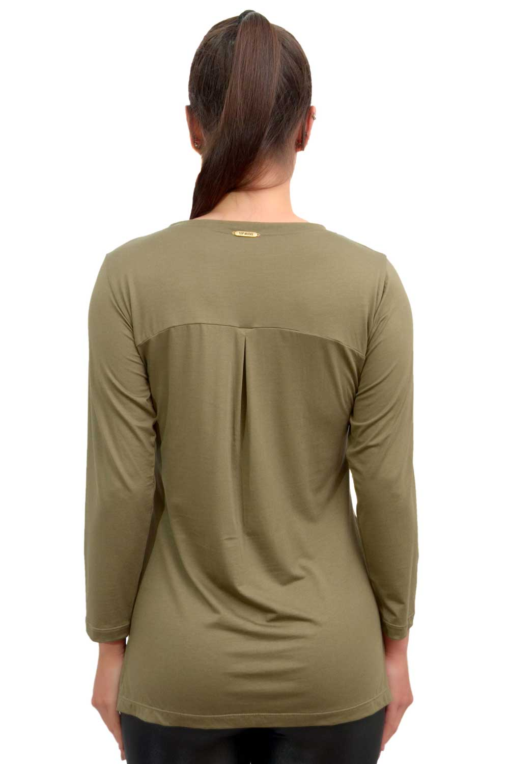 BLUSA MANGA 3/4 LU STRETCH VERDE TOP MODEL