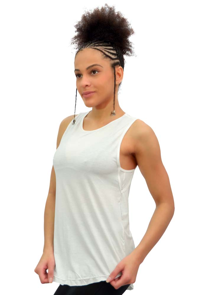 BLUSA REGATA LONG BRANCO TOP MODEL