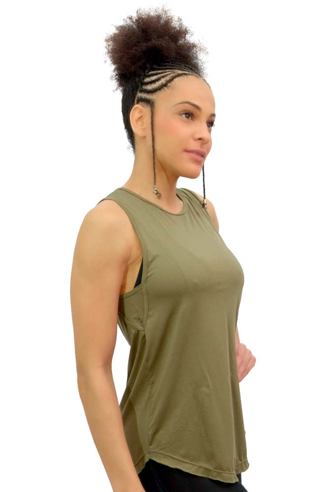 BLUSA REGATA LONG VERDE TOP MODEL