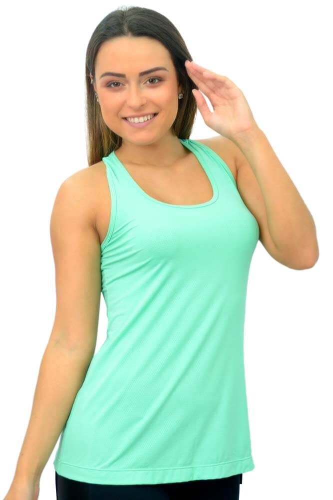 BLUSA REGATA NOZINHO NEW TRIP VERDE ATLANTIS TOP MODEL