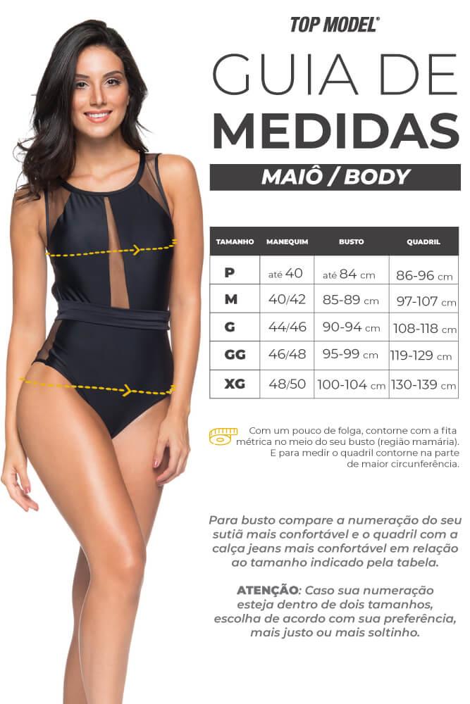 BODY D'ARC PRETO TOP MODEL