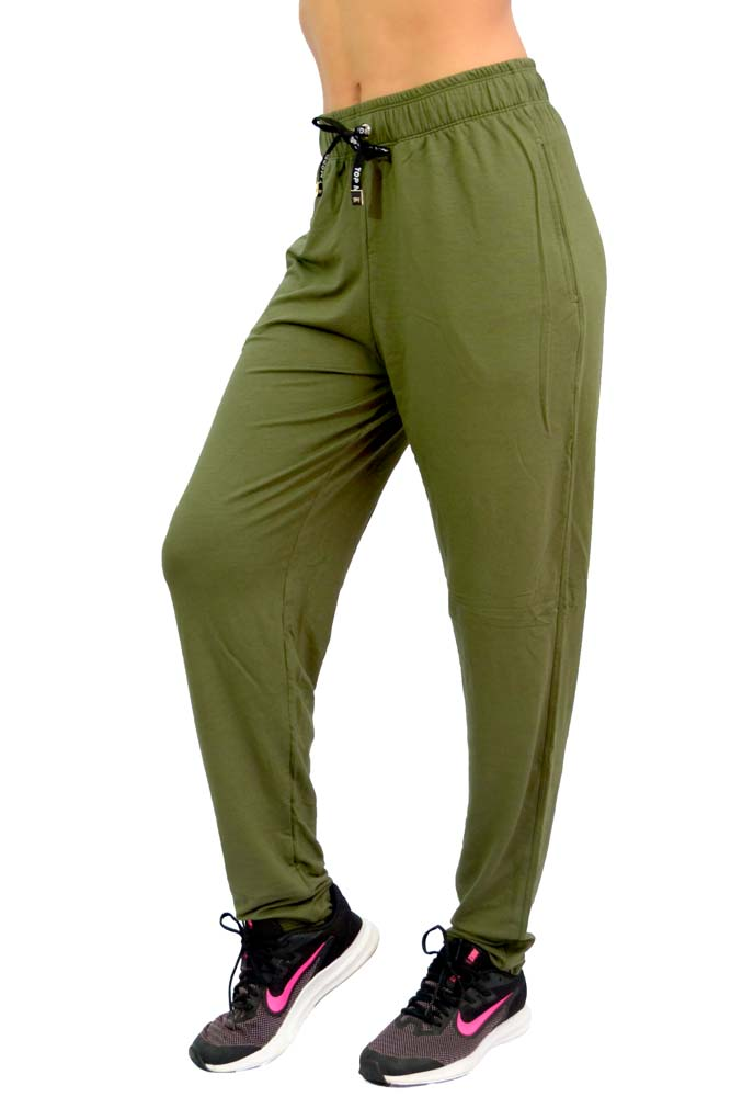 CALÇA COMPRIDA GANDHI VERDE MILITAR TOP MODEL