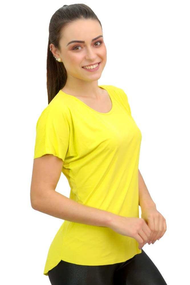 CAMISETA SOLTA LINK VERDE LEMON TOP MODEL