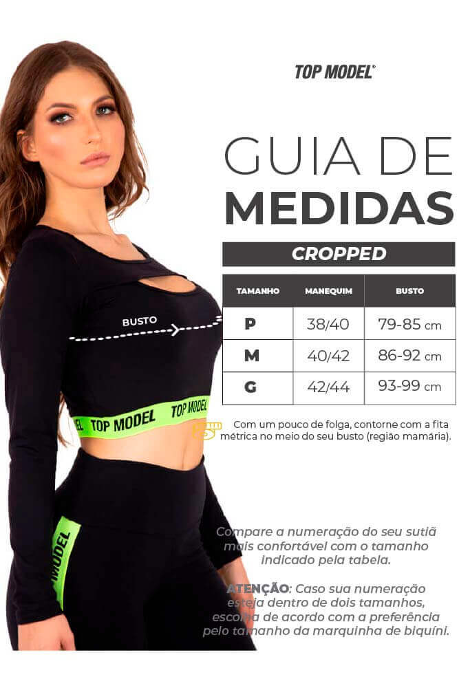 CROPPED COM ZÍPER BEST LIGHT VERDE ARUBA TOP MODEL