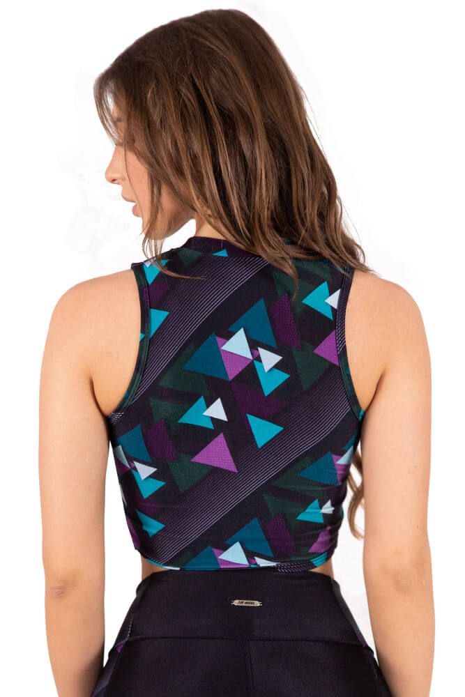CROPPED ZIPER TRILOBAL FIT TETRA TOP MODEL