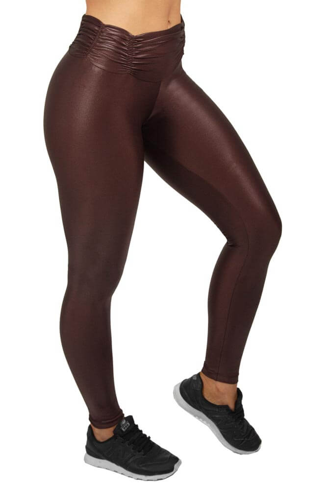 LEGGING CIRRE CÓS FRANZIDO MARROM TOP MODEL