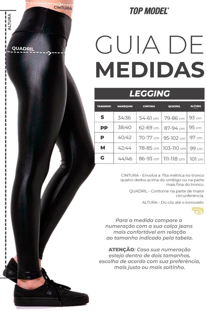 LEGGING CIRRE MAIARA PRETA COM MESCLA TOP MODEL