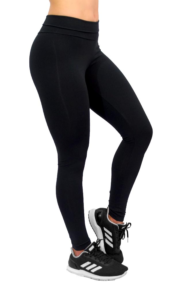 LEGGING EMANA ANTICELULITE CÓS DUPLO PRETA TOP MODEL