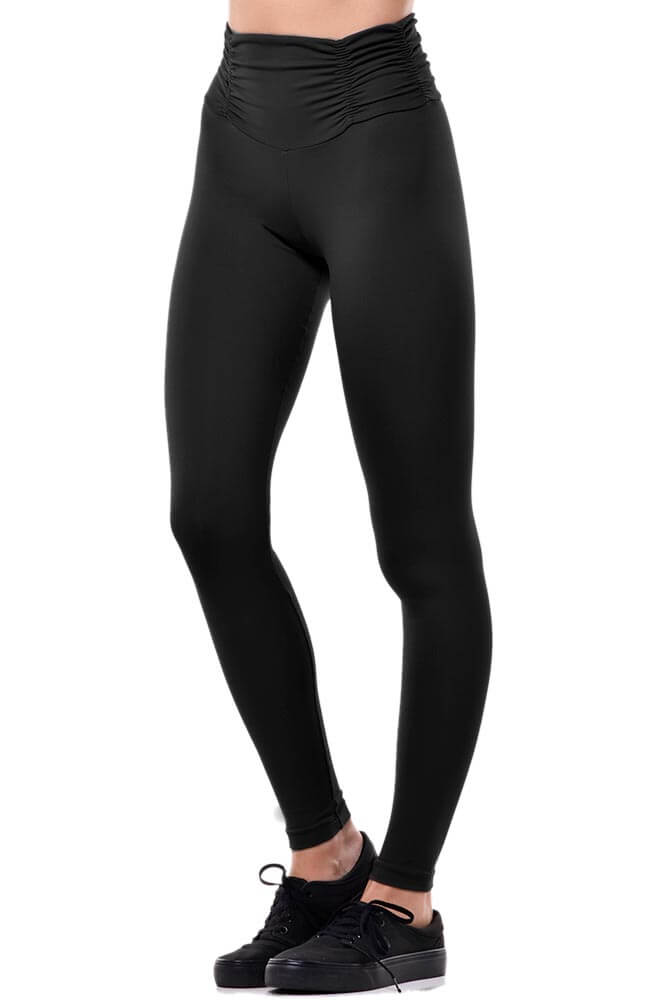 LEGGING EMANA ANTICELULITE CÓS FRANZIDO PRETA TOP MODEL