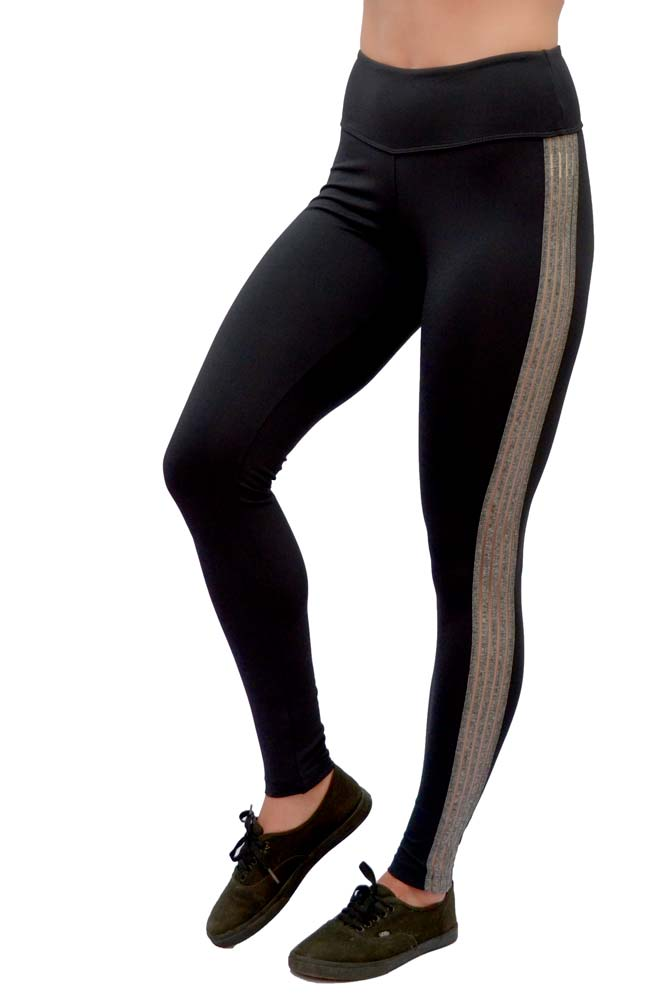 LEGGING EMANA MAIARA PRETA COM MESCLA TOP MODEL