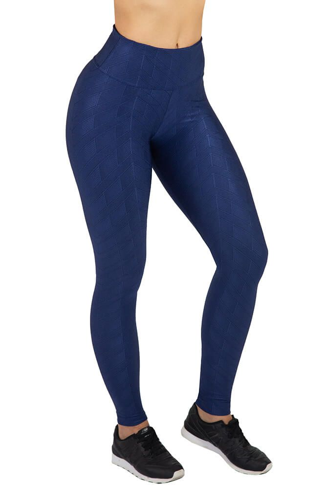 LEGGING ESTAMPA TEXTURIZADA WINNER AZUL MARINHO TOP MODEL