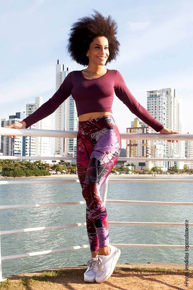 LEGGING ESTAMPADA FIT CARMESIM CÓS ANATÔMICO TOP MODEL