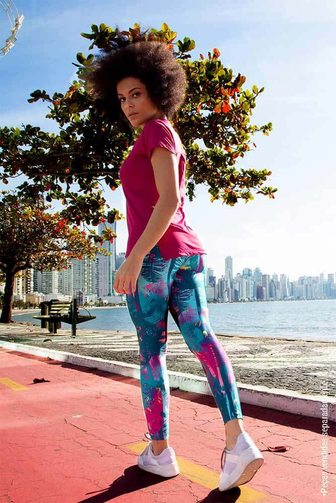 LEGGING ESTAMPADA FIT FLORESTA CÓS ANATÔMICO TOP MODEL
