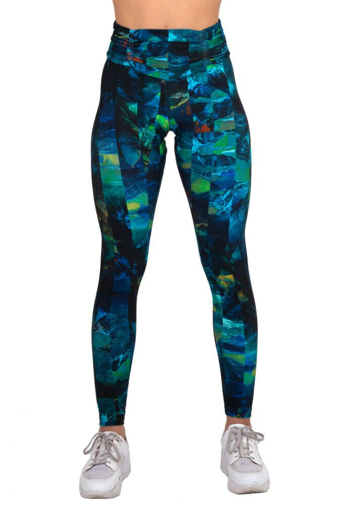 LEGGING ESTAMPADA FIT ROCK AZUL CÓS FRANZIDO TOP MODEL