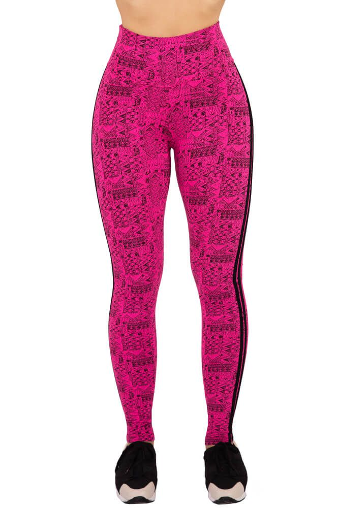 LEGGING ESTAMPADA ROSA NEON 2 VIÉS LINKA TOP MODEL