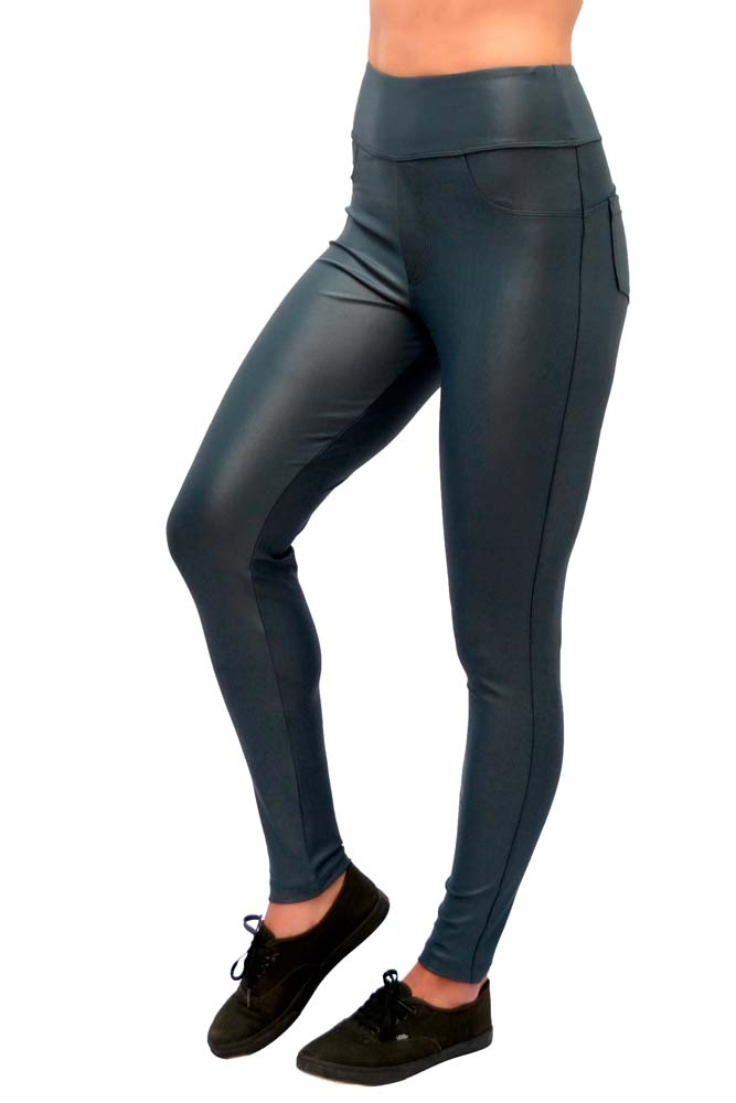 LEGGING HOT PANTS CIRRÊ CINZA CHUMBO CÓS ANATÔMICO TOP MODEL