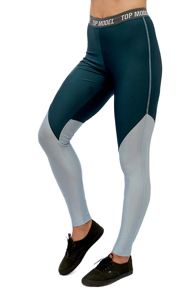 LEGGING LYCRA BUSH AZUL CÓS BRAND TOP MODEL