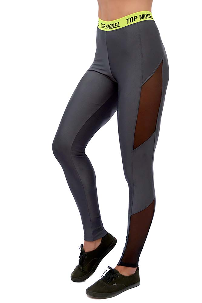 LEGGING LYCRA DELAVIGNE CINZA CARBOX BRAND TOP MODEL